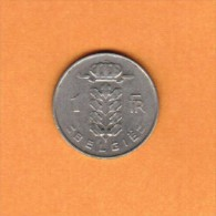 BELGIUM   1 FRANC (DUTCH) 1967 (KM # 143.1) - 1951-1993: Baudouin I