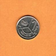 BELGIUM   1 FRANC (DUTCH) 1990 (KM # 171) - 04. 1 Franc