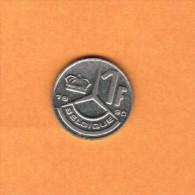 BELGIUM   1 FRANC (FRENCH) 1990 (KM # 170) - 04. 1 Franc
