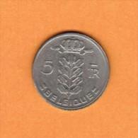 BELGIUM   5 FRANCS (FRENCH) 1962 (KM # 134.1) - 1951-1993: Baudouin I