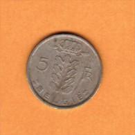 BELGIUM   5 FRANCS (DUTCH) 1971 (KM # 135.1) - 05. 5 Francs