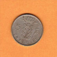 BELGIUM   5 FRANCS (DUTCH) 1971 (KM # 135.1) - 1951-1993: Baudouin I