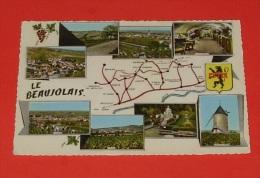 69 - Le Beaujolais :: Vins - Alcools - Vignes - Vendanges - Raisins  :: Carte Multi Vues   ----------- 336 - France