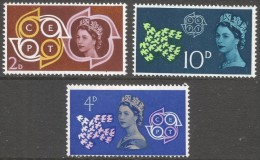 Great Britain. 1961 European Postal And Telecommunications (CEPT). MH Complete Set. SG 626-628 - 1952-.... (Elizabeth II)