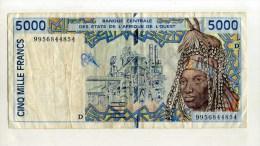 - ETATS DE L´AFRIQUE DE L´OUEST .  BILLET DE 5000 F.  . - Banconote