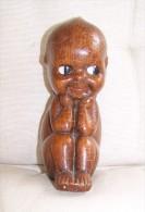 Joli Bébé Africain En Terre Cuite Vernissée Made In Italy - Art Africain