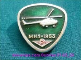 """Soviet Helicopter """"Mi-4"""" / Soviet Badge 01-03_1019_09 - Vliegtuigen"""