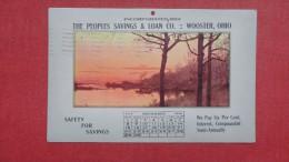 November 1914 Calendar Postcard  Peoples Savings Wooster  Ohio>   >=====  =2148 - Sin Clasificación