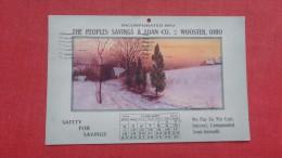 January 1914 Calendar Postcard  Peoples Savings Wooster  Ohio>   >=====  =2148 - Sin Clasificación