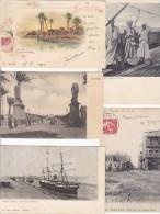 TRES JOLIE LOT DE 200 CARTES D AFRIQUES NOIRES.  ALGERIE.  EGYPTE. MAROC.  TUNISIE.  BON LOT A VOIR