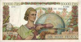 Billet Français - 10000 FRANCS GENIE FRANCAIS - Date : 5-4-1951 - N°379 - 1871-1952 Anciens Francs Circulés Au XXème