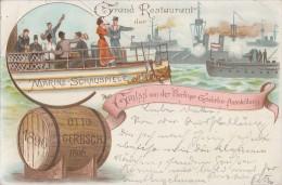 Berlin Gruss Von Der Berliner Gewerbe-Ausstellung 1896 Grand Restaurant Otto Gerbsch 20.7.96 - Ohne Zuordnung