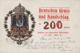 AK Dt. Gruß Und Handschlag Zur 200 Jähr. Jubelfeier Des Pr. Königshauses Berlin 17.1.01 - Königshäuser