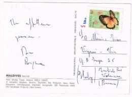 O993 Maldives - Male Atoll - Aerial View - Nice Stamps Timbres Francobolli / Viaggiata - Maldive