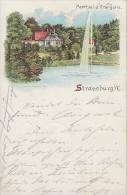 AK Strassburg Parthie In Der Orangerie Color Gelaufen 1.11.00 - Elsass