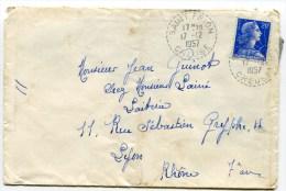 CREUSE De SAINT FRION Cachet B7 Sur Env.  De 1957 - Marcophilie (Lettres)