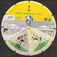 SOCCER - FOOTBALL - FUTBOL - COPA AMERICA 2011 - GRUPO B - CIRCULAR BOOKLET With FIXTURE + STAMPS