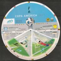 SOCCER - FOOTBALL - FUTBOL - COPA AMERICA 2011 - GRUPO A - CIRCULAR BOOKLET With FIXTURE + STAMPS