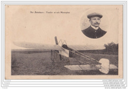 MO-    AVIATEUR TOUERY  ET SON MONOPLAN - Aviateurs