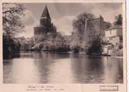 Carte Photo Vers 1940 MAREUIL SUR LAY /sa Rivière ,son Château ,son église - Mareuil Sur Lay Dissais