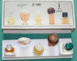 Coffret Collection Parfums De Paris - 5 Miniatures (Coriandre, Vison, Regine's, Chantilly, Désirade) - Miniatures Modernes (à Partir De 1961)