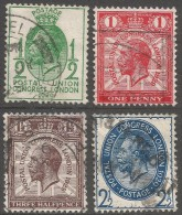 GB. 1929 Ninth UPU Congress, London. Used Complete To 2½d. SG 434-7. CB204 - 1902-1951 (Kings)