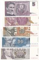 Complete Set 1994-1996  UNC !!! - Yougoslavie