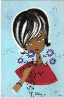 Carte Postale Illustrateur  RIKA  Jeune Fille Kruger 900/188   Trés Beau Plan - Illustrateurs & Photographes
