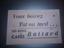 AA3-7 Buvard Cafés Battard - Café - Café & Thé