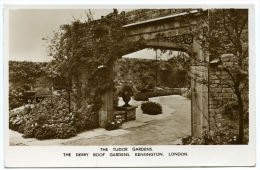 "LONDON : KENSINGTON - DERRY ROOF GARDEN, THE TUDOR GARDENS / POSTMARK - ACTON & SLOGAN ""EUROPE 4D"" - London Suburbs"