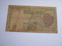 ------1 BILLET--500-francs---D---MALI-----AFRIQUE-- - Mali
