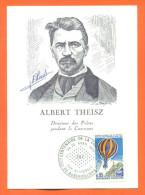 Carte Maximum - Albert Theisz Directeur Des Postes - Centenaire De La Commune Aubervilliers- 24/25 Avril 1971 - Cartes-Maximum
