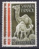 ESPAÑA/SAHARA 1951 - Edifil #91/93 ** - Precio Cat. €2.50 - Sahara Español