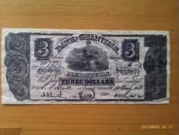 Billete Granville. 3 Dólares. 1838. Estados Unidos De América. - Divisa Colonial (Siglo XVIII)