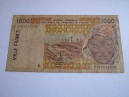 ------1 BILLET--1000-francs---K---SENEGAL-----AFRIQUE-- - Sénégal