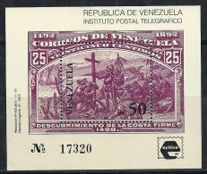 VENEZUELA  1991  - Yvert  #H 35  - Precio Cat. €6 - Venezuela