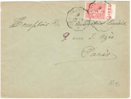 54) FRANCE LETTRE DE CHARTRES 14.3.1929 POUR PARIS - Storia Postale