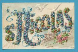 CPA Série 3072 K.F Editeurs - Fantaisie Gaufrée Embossed Fleurs Colombe SAINT-NICOLAS - San Nicolás