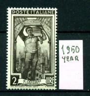 -ITALIA -REPUBBLICA - Year 1950 - Nuovo -news - MNH **. - 6. 1946-.. Repubblica