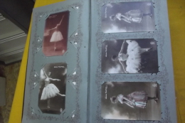 SUPERBE ALBUM 315 CPA THEME DANSE ET THEATRE +39 CHROMOS + 1 INVITATION REPRESENT  MR L HERITIER AU PALAIS ROYAL 1881 - 100 - 499 Karten