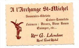 Carte Pub Mont Saint Michel  L'Archange St Michel Letondeux - Publicités