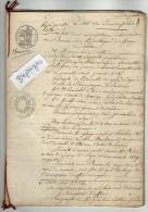 VP2515 - MEAUX - LAGNY - 3 Actes Des Hypothèques Concernant Mr Jérome DELANDINE DE SAINT ESPRIT à PARIS - Manuscripts