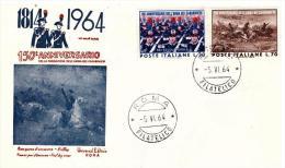 Fdc Universal Editrice: ARMA CARABINIERI  (1964); No Viaggiata; AF_Roma - FDC
