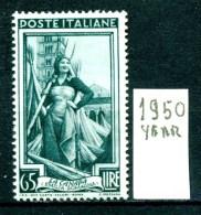 - ITALIA - REPUBBLICA - Year 1950 - Nuovo -news - MNH **. - 6. 1946-.. Repubblica
