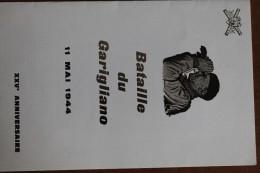 1969       -       ENCART  NUMEROTE   BATAILLE  DU  GARIGLIANO  SIGNE  GANDON   4 PHOTOS - 1960-1969