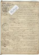 VP2516 - MEAUX - LAGNY - POMPONNE - Acte Des Hypothèques Concernant Mr Jérome DELANDINE DE SAINT ESPRIT à PARIS - Manuscripts