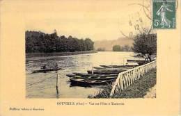 """60 - GOUVIEUX : Vue Sur L'Oise à Toutevoie - Jolie CPA """" Vernie """" Et Colorisée - Oise - Gouvieux"""