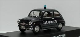 FIAT 600D 1967 CARABINIERI DEAGOSTINI 1/43 POLIZIA ITALIA SEICENTO BLUE BLAU - Voitures, Camions, Bus