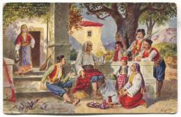 Fiddle Minstrel Ethno, Serbia Montenegro, 1915. - Europe