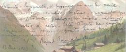 HERMOSA PIEZA LITERARIA DEL SALTEÑO RAFAEL RUIZ DE LOS LLANOS DATADA EN 1905 SOBRE POSTAL ALEMANA, TEMPERA DE MAILICK QU - Autogramme & Autographen